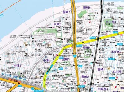 【地図】ラルテ中津