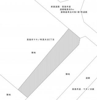 【土地図】高木浜二丁目82坪土地