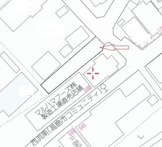 【地図】高木浜二丁目82坪土地