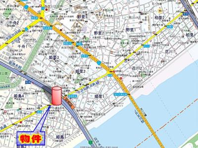 【地図】ライジングコート姫島駅前