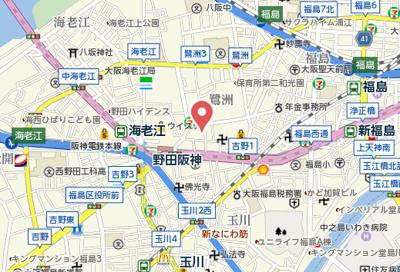 【地図】アークビルド鷺洲