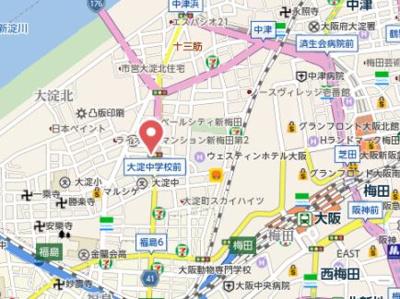 【地図】ZERO大淀中