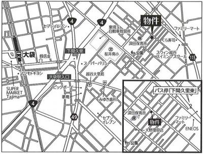 2駅利用可能で閑静な住宅街♪スーパーやコンビニが近く生活便利な立地です。バス停徒歩3分♪