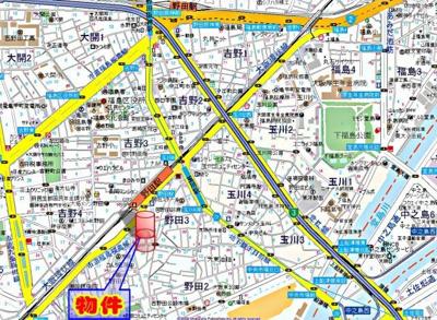 【地図】ウィステリア野田Ⅰ番館