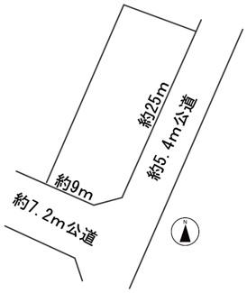【区画図】57393 岐阜市本荘中ノ町土地