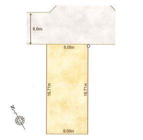 1-B区画:土地面積135.11平米、お好きな工務店で建築可