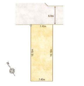 1-C区画:土地面積135.10平米、お好きな工務店で建築可