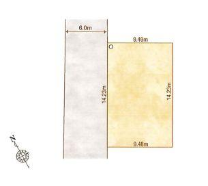 1-D区画:土地面積135.10平米、お好きな工務店で建築可