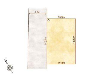 1-E区画:土地面積135.46平米、お好きな工務店で建築可