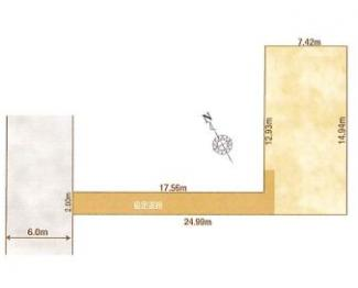 1-F区画:土地面積146.13平米、お好きな工務店で建築可