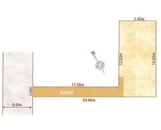 1-H区画:土地面積135.24平米、お好きな工務店で建築可