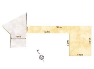 1-K区画:土地面積135.88平米、お好きな工務店で建築可