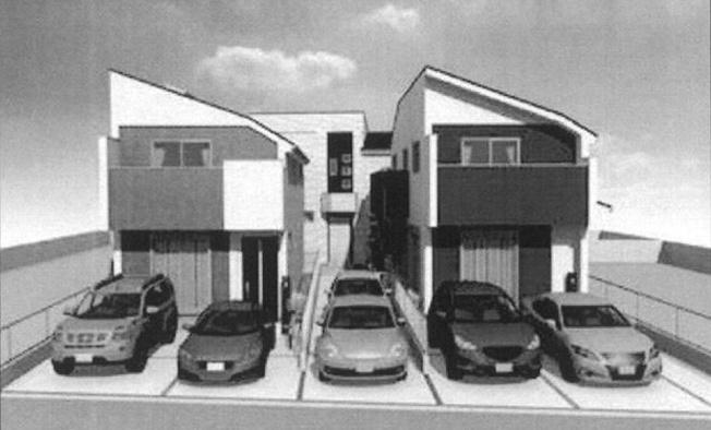 【外観パース】小金井市桜町2丁目 新築戸建
