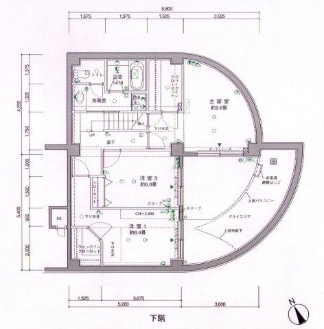 4階部分間取り図