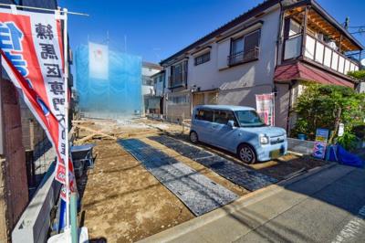 【外観】練馬区田柄3丁目 土地38坪のデザイン新築戸建