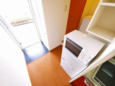 冷蔵庫置き場も完備。