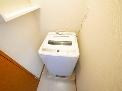 室内洗濯機置き場があります。