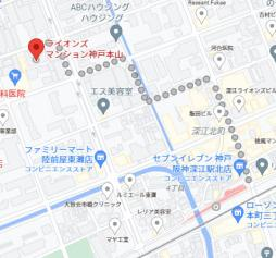 【地図】ライオンズマンション神戸本山