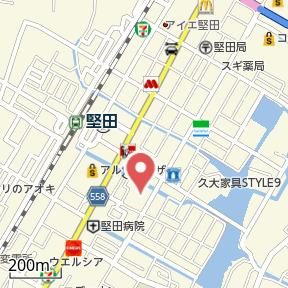 【地図】本堅田④ H邸貸家