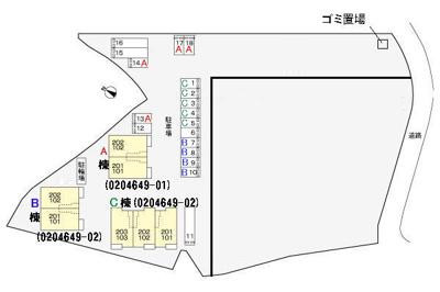 【区画図】リバーサイド真倉 A