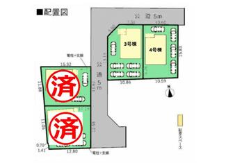 【区画図】富士市比奈第9 新築戸建 全4棟 (4号棟)
