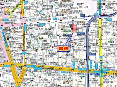 【地図】ノルデンハイム梅田東