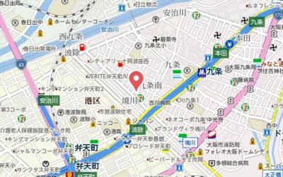 【地図】グランカリテ九条南
