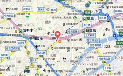 【地図】ラナップスクエア新福島