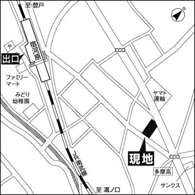 【地図】ブランネージュ多摩川