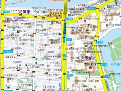 【地図】ドエル天満橋