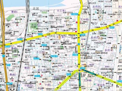 【地図】インザグレイス梅田北