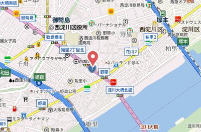 【地図】セオリー大阪フルール