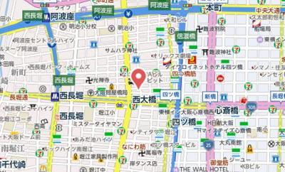 【地図】コーシン四ツ橋