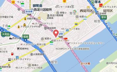 【地図】Palace Osaka