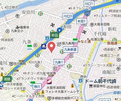 【地図】エスカーサ大阪WEST九条駅前