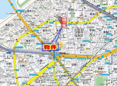 【地図】エスリード梅田西第5