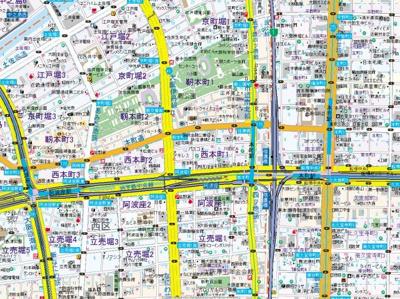 【地図】クリスタルグランツ西本町
