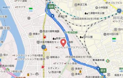 【地図】ミテジマビル