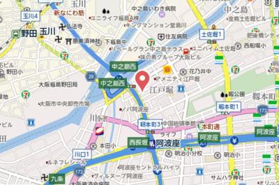 【地図】ラクラス江戸堀