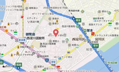 【地図】ハーモニーテラス野里Ⅱ