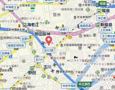 【地図】GOパレス福島
