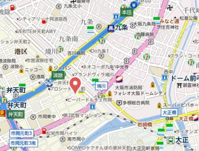 【地図】エグゼ大阪ドームⅡ