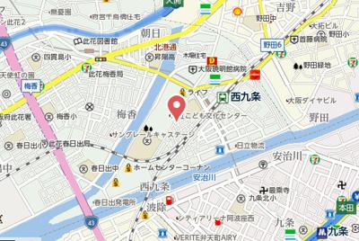 【地図】WINGS西九条