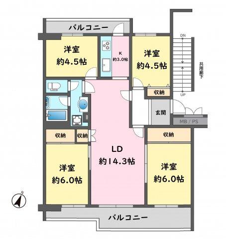 昭島つつじが丘ハイツ 15号棟 9階