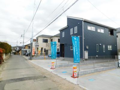 【前面道路含む現地写真】狭山市広瀬東2丁目・全3棟 新築一戸建 2号棟