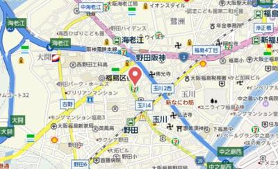 【地図】セレニテ福島カルム