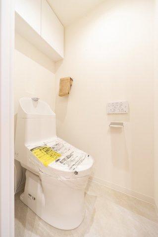 洗浄便座付トイレも新規交換につき快適にお使いいただけます