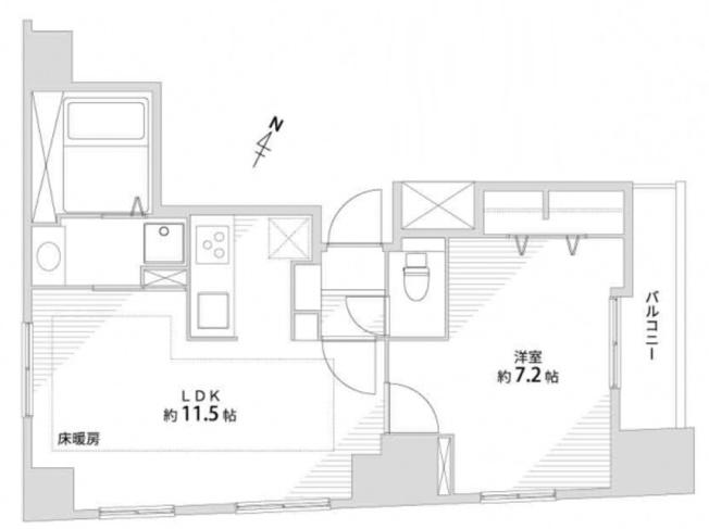ガラ・ステーション東日本橋:宅配ボックス付き1LDK新規内装リノベーション物件です!リビングダイニングは床暖房付きなので快適に生活できます♪