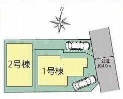 【区画図】中野区白鷺2丁目 新築戸建