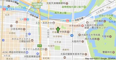 【地図】エスリード大手前
